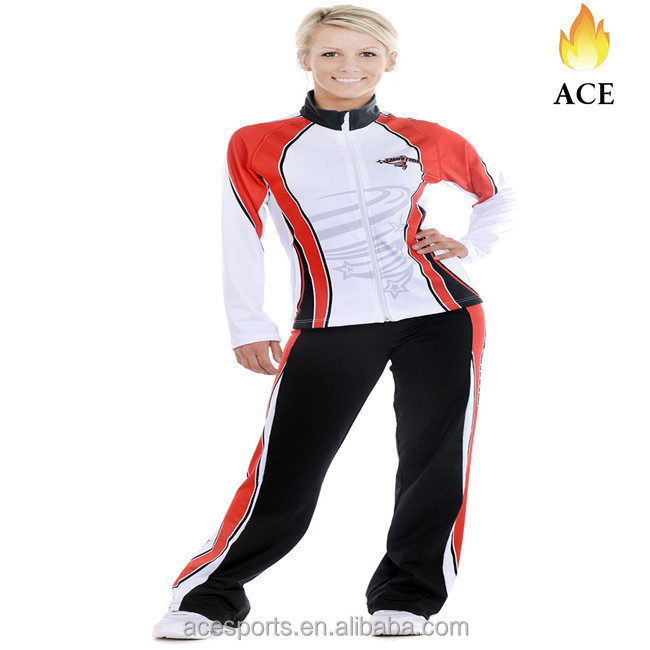 Dry fit Sublimated cheer uniforms warmup suit jackets cheer coat