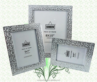 wholesale various custom glossy white photo frame for decoration