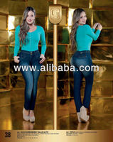 denim jean derriere high waistband