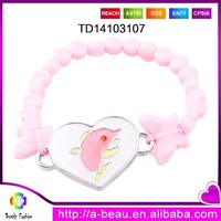 2015 New Glow In The Dark UV Dolphin Charm Beaded Bracelet TD14103107