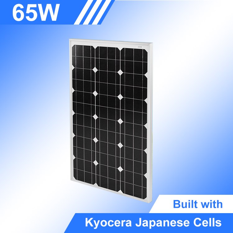 Professional 65Watt pv Kyocera panel lowest prices monocrystalline solar cell
