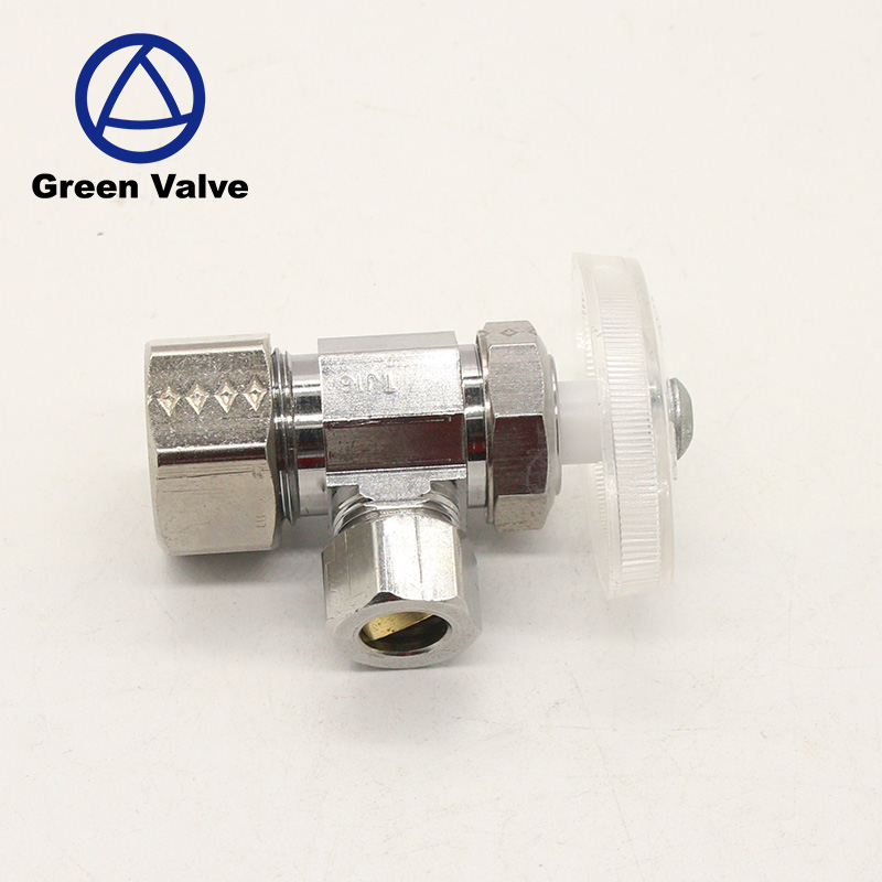 Green Guten-Top Yuhuan DZR factory cheap brass angle vavle with ABS handle