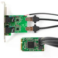 Mini PCI Express to Dual Gigabit Ethernet Controller Card