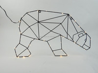 B/O new design running bear with copper rice led light