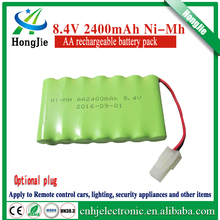 8.4V 2400mAh NiMH battery pack AA rechargeable battery for electric remote control toy car models Boat