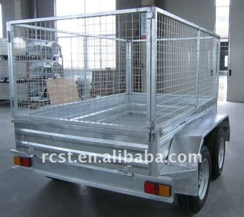 hot dipped galvanized cage trailer