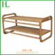 Cheap 2-tier bamboo/wood shoe rack for living room
