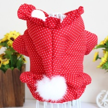 Pet Clothes New Winter Warm Pets Christmas Coat Dog Thicken Cotton-Padded Hoodie For Yorkie Teddy