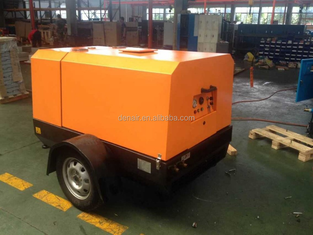 Small model diesel portable air compressor with famous engine, hot sale!