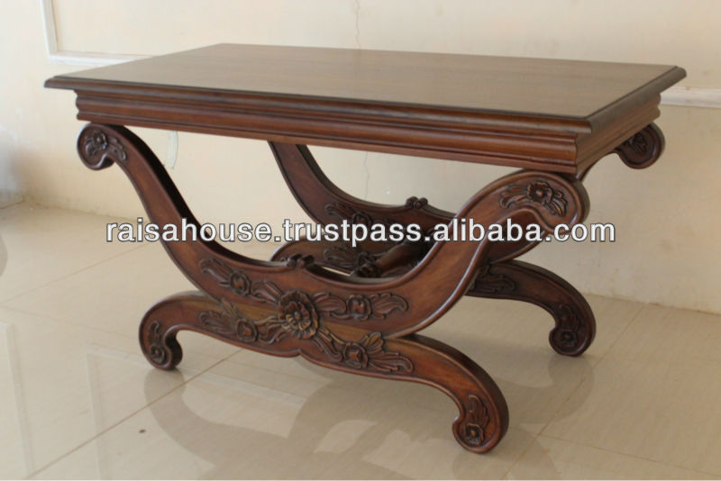 Indonesia Furniture - French Carve Crab Stool, wooden top