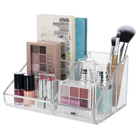 Hot sale factory direct low price acrylic makeup brush holder organizer