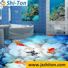 sea world 3d inkject picture bathroom tile porcelain 3d floor tile for living room
