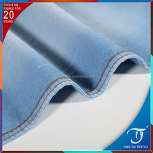 100%cotton demin fabric for dress light color 4OZ quality guarantee