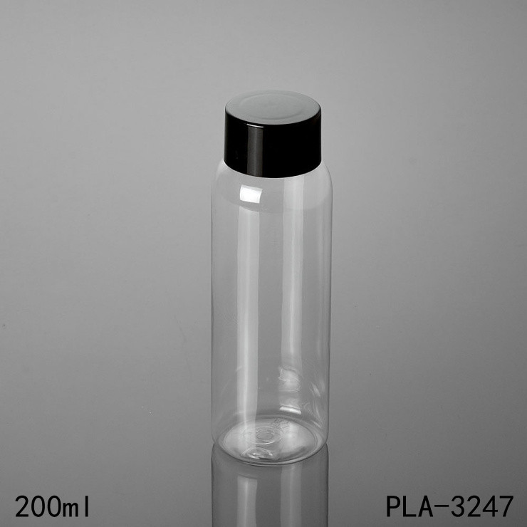 clear PET 200ml plastic bottle round 200ml plastic drinking bottle for juice