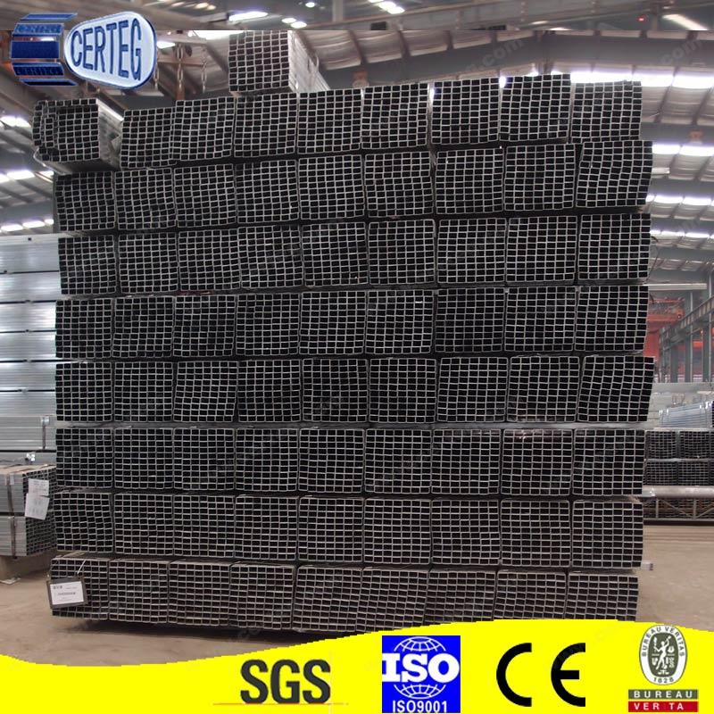Q345b s355 acero al carbono tubo cuadrado de acero de - Tubo cuadrado acero ...