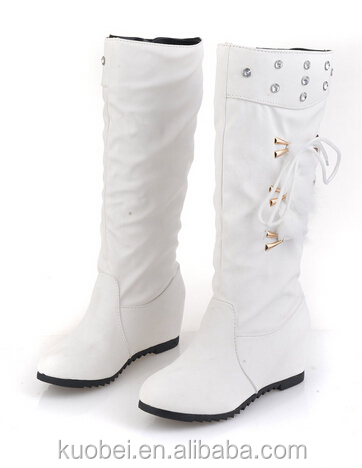 2016 newest high heel snow boots women winter boots ,white boot