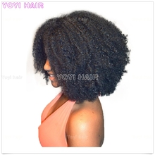 Remy Natural color afro wigs for black men