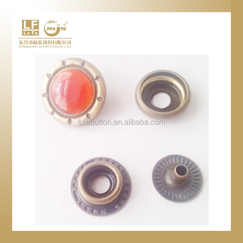 custom design rhinestone brass snap fastener