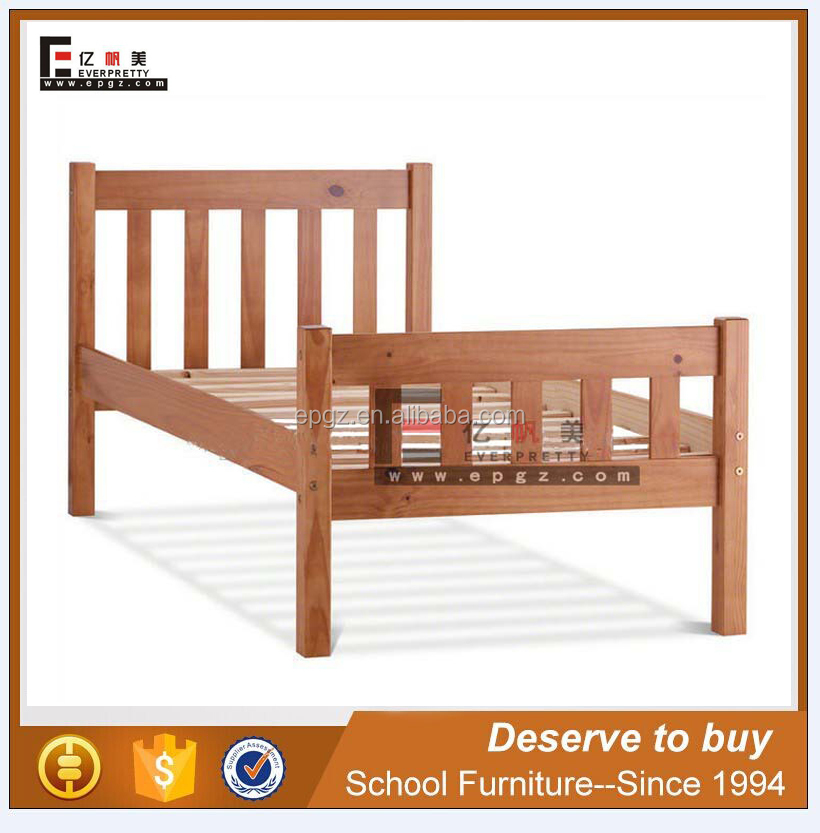 Modern Design Children Bedroom Furniture Solid Wood Double Wooden Bed for Sale