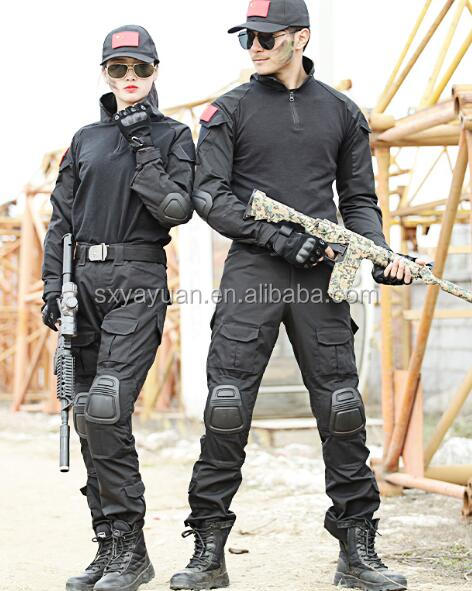 Loveslf black special combat training suit protect yourself military uniform