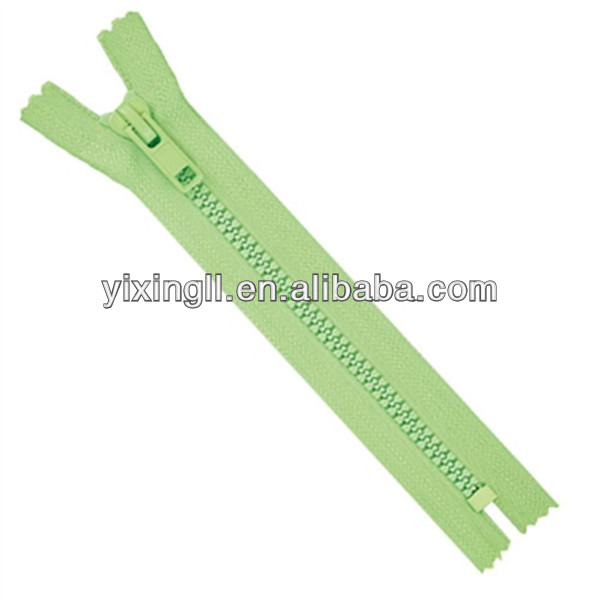 Plastic colorful metal zipper nylon invisible zippers double ended zipper
