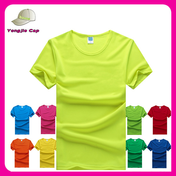 high quality custom logo tee shirts printed custom 100% polyester wholesale blank t-shirts