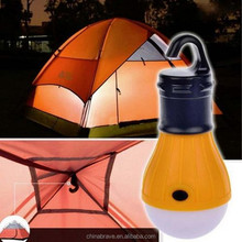 outdoor LED camping lantern rechargeable solar LED camping light with mobile phone charger