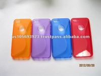 TPU S line soft case for iphone 5
