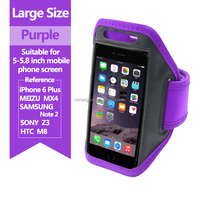 wholesale high quality adjustable sport running mobile phone armband