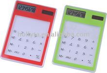 Transparent Touch Screen Pocket Electronic Mini Calculator