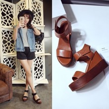Women Chappal Brand Name Mule Cork Wedge Sandals High Heel Shoes