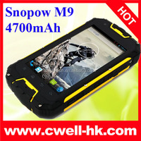 Snopow M9 4700mAh Monster Battery Long Standby IP68 Waterproof Walkie Talkie Smartphone MTK6589 Quad Core 4.5 Inch IPS Screen An