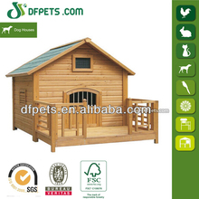 Fir Wood Dog Kennel with Veranda DFD004