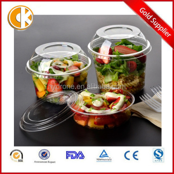 8oz Clear round OEM products plastic fruit salad container