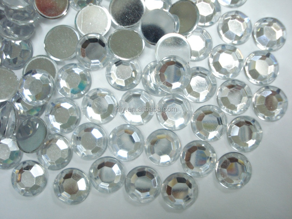Factory Wholesale Flat Back Rhinestone Non Hot Fix Clear Crystal Gem For Nail Decoration DIY