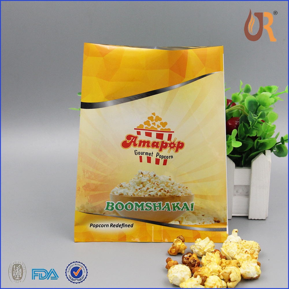 High quality plastic food pouch pop corn packaging bags and plastic food bag