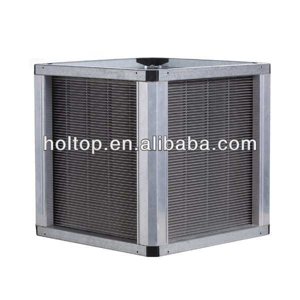 Aluminum fin air to air plate heat exchanger