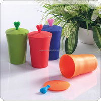 silicone cup with lid /sealing well silicone cup/ FDA silicone cup 110ML