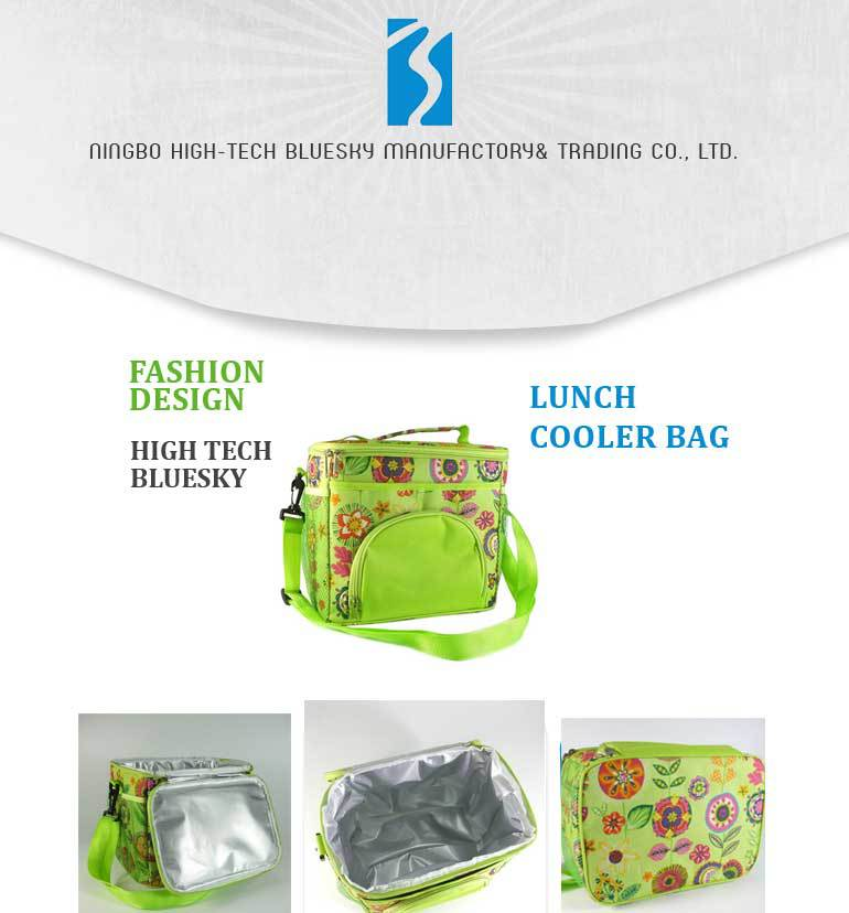 Thermal insulated camouflage 600d polyester iinsulated lunch bag with zipper
