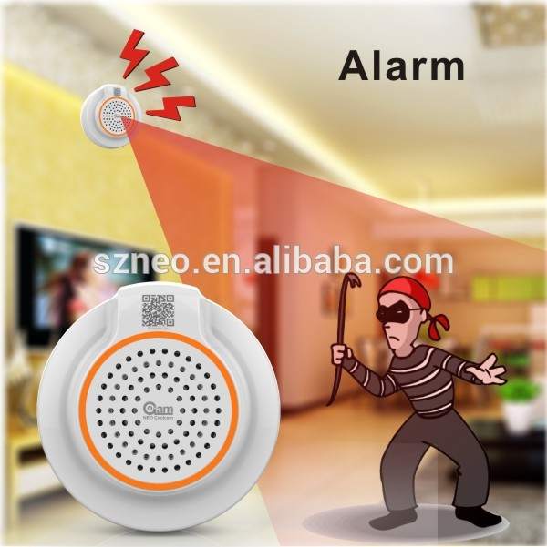 Coolcam external smoke alarm sensor,720p wifi camera wireless pir sensor alarm system