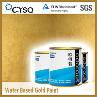 Water Based gold paint for walls