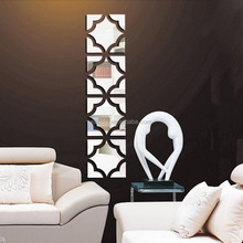 DIY Creative 3D Mirror Removable Acrylic Wall Sticker Home Decals TV Background Living Room Bedroom Wall Paper