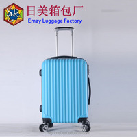Standard size spinner abs aluminum trolley luggage