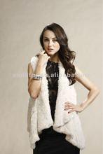 Women Rabbit Fur Hand Knitted Vest/Gilet New Fashion Real Fur Vest High Quality STY.NO. 3053#