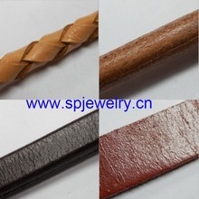 natural round leather cord, many shapes and colors for choice