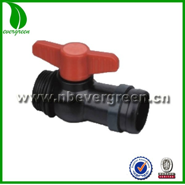 male lock coupliing ball valve for micro spray tube