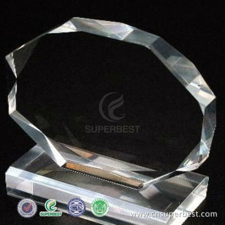 clear acrylic multiple edges trophy blanks with base manufacturer