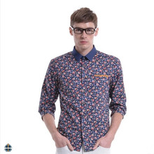 T-MSS540 Button Down Fashionable Floral Full Printed Mens Shirt