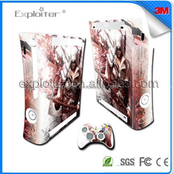 Quality new coming decal sticker for xbox360 slim decal skin