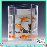 Manufacturer transparent clear acrylic fish tank